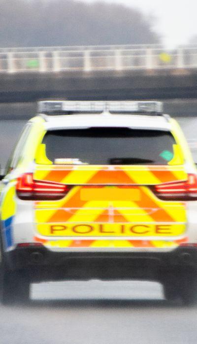 Police car motoway